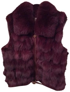 St. John Tag Says Fox It Is Not Faux Bold Color Is Smashing Zipper Is So Classey Vest