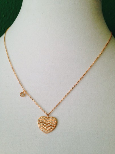 2 B Rych NWOT Pave & Solitaire Cubic Zirconia In Rose Hold Over Sterling Silver Necklace