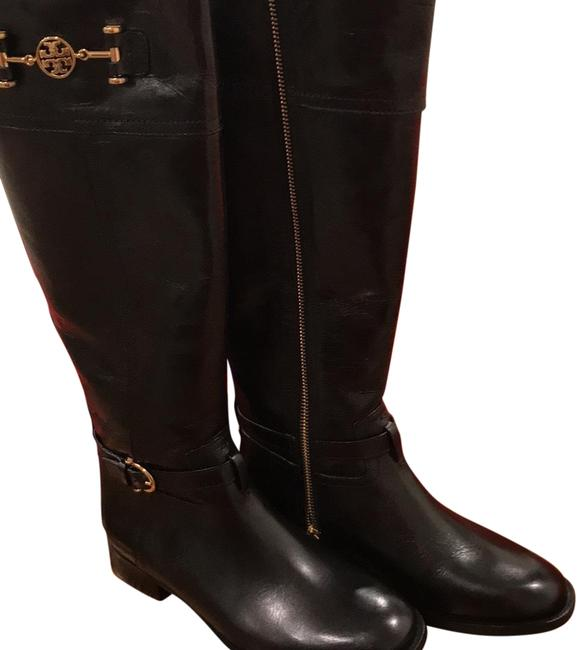Tory Burch Black Nadine Riding Boots/Booties Size US 6 Regular (M, B) Tory Burch Black Nadine Riding Boots/Booties Size US 6 Regular (M, B) Image 1
