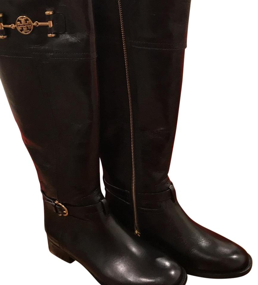 29b4d6287850 Tory Burch Black Nadine Riding Boots Booties Size US 6 Regular (M