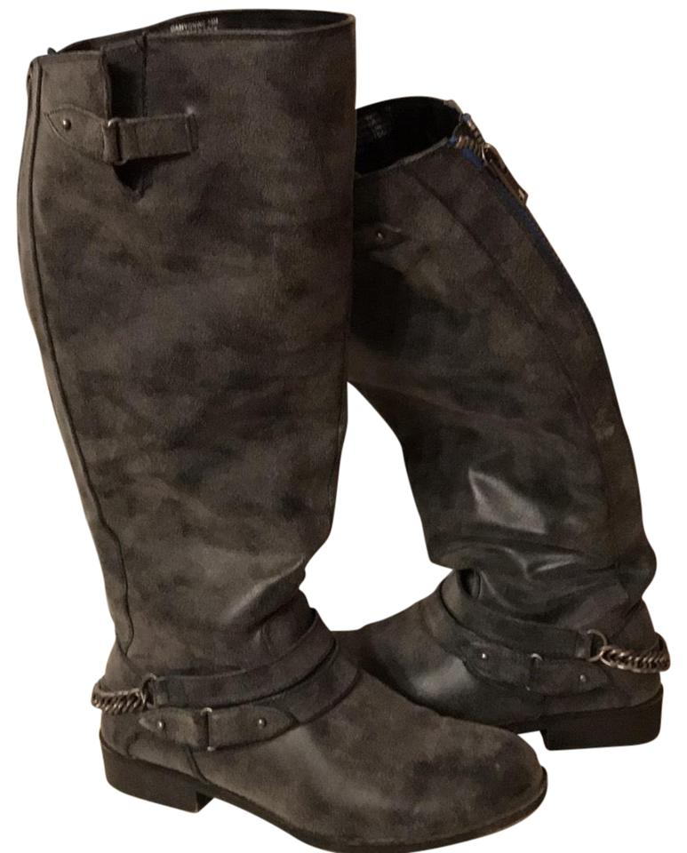 2950fdf5c31 Steve Madden Grey with Blue Zipper Detail Canyon Wc Boots Booties ...