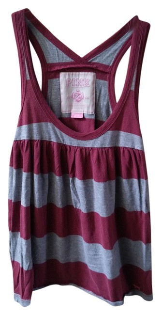 Preload https://item2.tradesy.com/images/pink-tank-top-maroon-and-grey-2251226-0-0.jpg?width=400&height=650