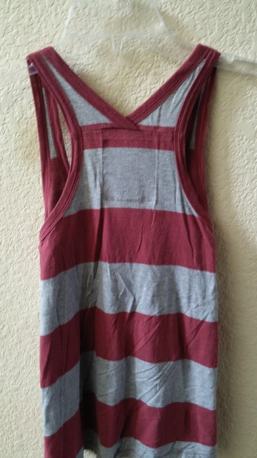 PINK Top Maroon and grey