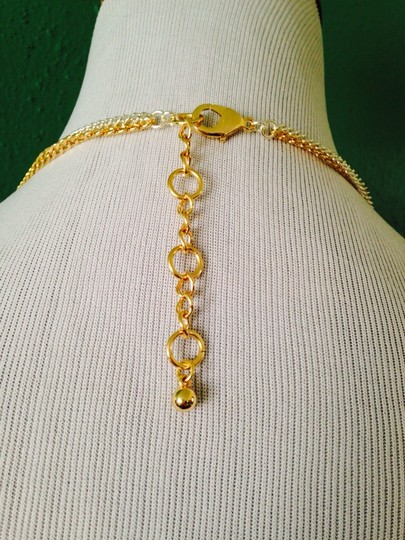 Other Embellished by Leecia NWOT Two-Tone Oval Link & Chain Long Necklace
