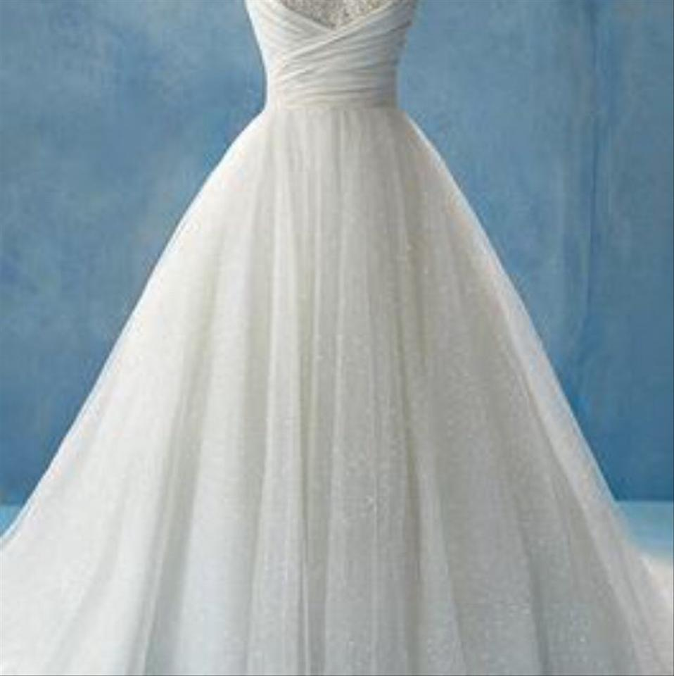 Alfred Angelo White Tulle Gown Formal Wedding Dress Size 20 (Plus 1x ...