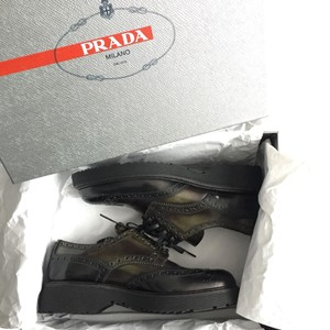 Prada dark forest green Mules