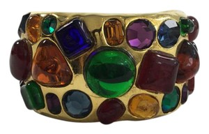 Chanel Chanel Gripoix Stained Glass Goldtone Cuff