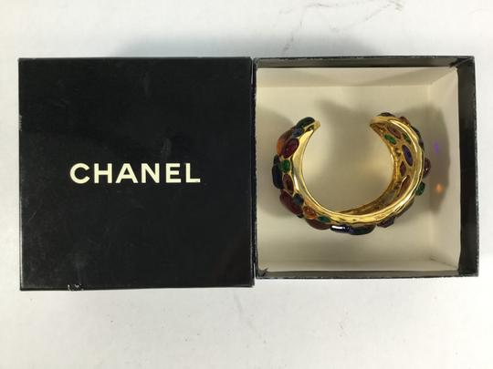 Chanel Rare Special Chanel Vintage Gripoix Stained Glass and Gold Bracelet