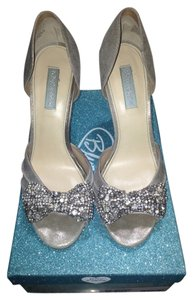 Betsey Johnson Silver Metal Formal