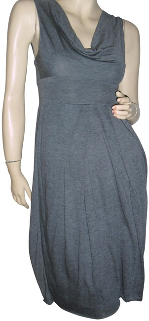 Item - Steel Gray Bcbg Max Azria Halter Cowl Neck Wide Straps Empire Cut Mid-length Short Casual Dress Size 2 (XS)