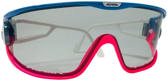 Item - Blue and Pink Shield Superbike S Sunglasses