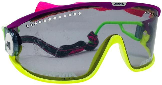 Item - Yellow Purple Pink and Black Shield Superbike Sunglasses