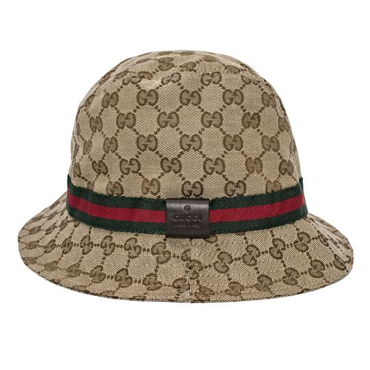 gucci beige ebony new gg bucket size large hat tradesy. Black Bedroom Furniture Sets. Home Design Ideas