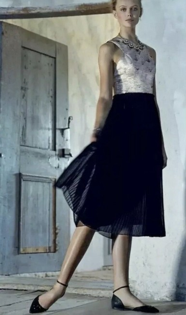Item - Black/ Pinkish Silver Mid-length Night Out Dress Size 8 (M)