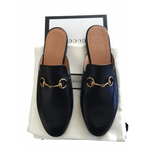 Gucci Slides Princetown Size 34 Loafers Black Mules