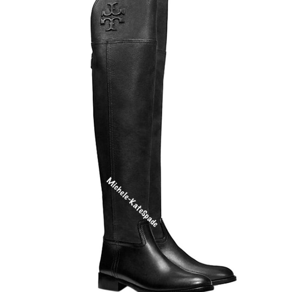 64d8826ad Tory Burch Black 8.5m Simone Over The Knee 35mm Vintage Buffalo Boots  Booties