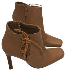Mandee Ankle Laces Stiletto New Tan Boots
