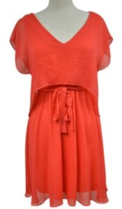 Miss Sixty short dress Red Orange M60 Color Summer Spring Lightweight Tie Waist on Tradesy