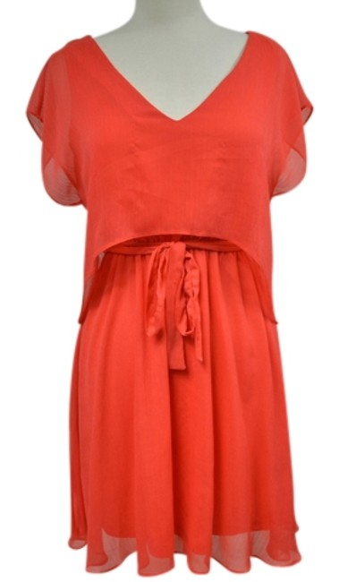 Preload https://item3.tradesy.com/images/miss-sixty-red-orange-m60-color-summer-spring-lightweight-tie-waist-above-knee-short-casual-dress-si-2251372-0-0.jpg?width=400&height=650