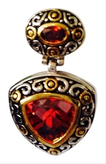 Other Embellished by Leecia Two-Tone Faceted Red Crystal Italian Design Earrings