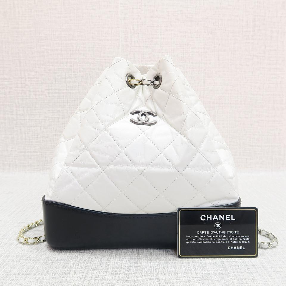 29ac8898cdc85d Chanel Gabrielle Backpack 2017 W/ Tags Black&white Calfskin Backpack -  Tradesy