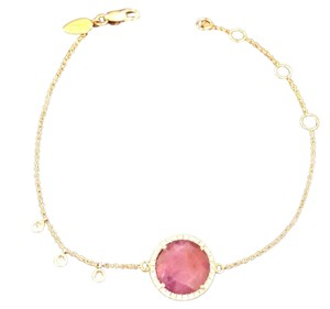Meira T Meira T Bezel Ruby and Diamond Bracelet