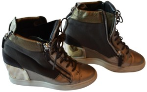 Giuseppe Zanotti Casual Booties Army Green Wedges
