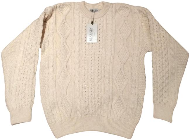 Item - Hand-knit Donncha Crew Cable Knit Fisherman Beige Sweater