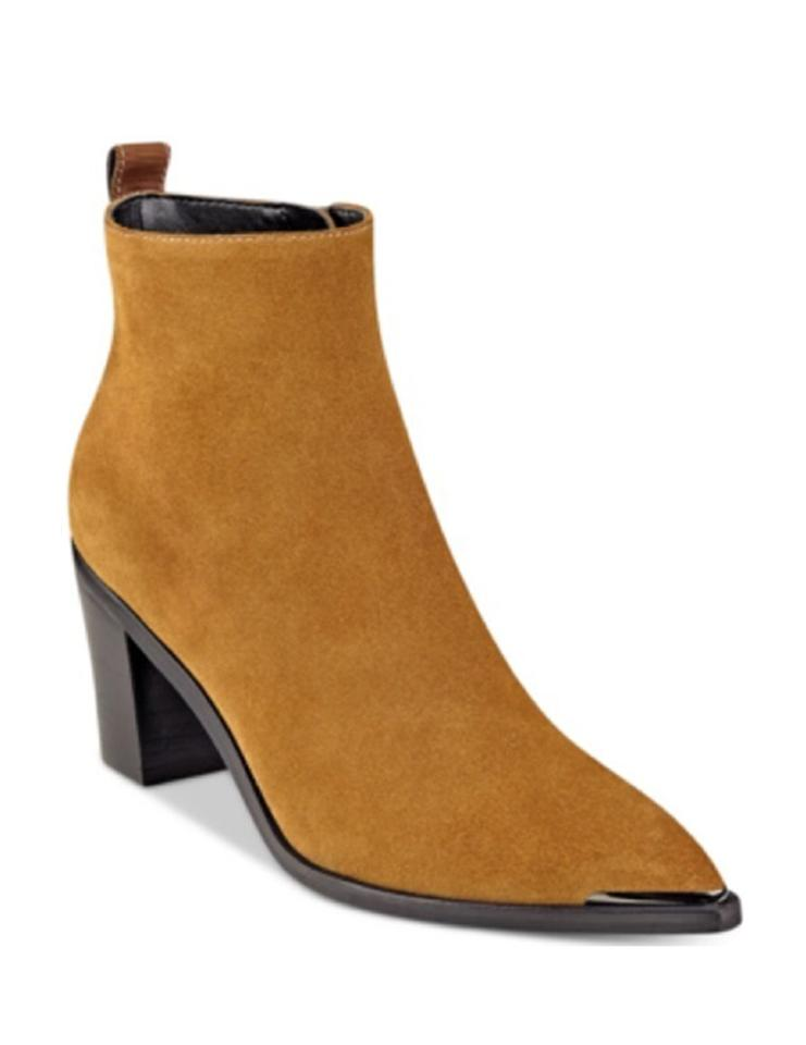 Marc Fisher Tan Nellien Pointy-toe Boots/Booties Block-heel Boots/Booties Pointy-toe e3de92