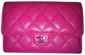 83f3fba7fbb4 Chanel L Wallet Card Holder Flap Classic CC Timeless Bag Case Quilted Caviar