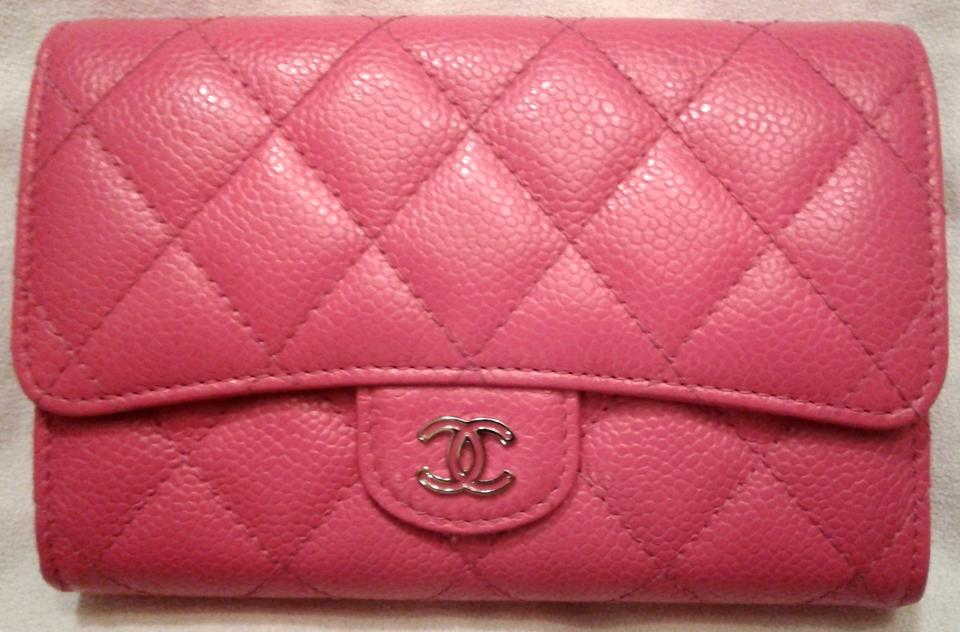 5974bec39db5 Chanel L Wallet Card Holder Flap Classic CC Timeless Bag Case Quilted Caviar  Image 11. 123456789101112