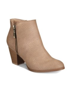 Style & Co Ankle Brown Saddle Boots