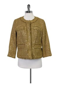 Michael Kors Tweed Sequin Gold Blazer