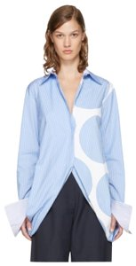 Stella McCartney Button Down Shirt Blue and White