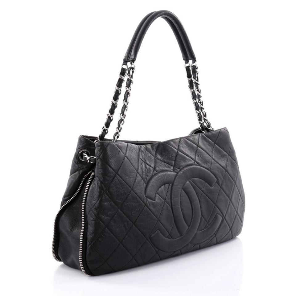 f5ca324cc389 Chanel Timeless Cc Expandable Tote Quilted Medium Black Caviar ...