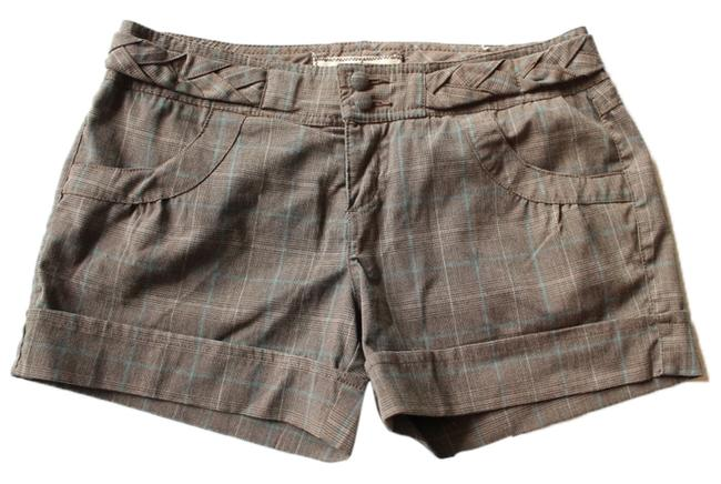 Other Plaid Dress Shorts Brown