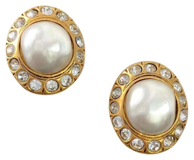 Item - Gold Vintage 1970's Pearl Earrings