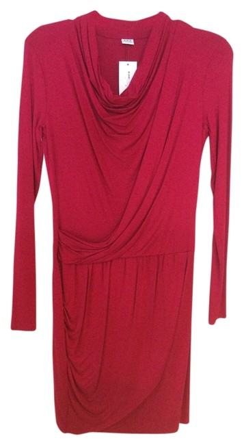 Preload https://item2.tradesy.com/images/three-dots-red-longsleeve-mid-length-short-casual-dress-size-0-xs-2251481-0-0.jpg?width=400&height=650