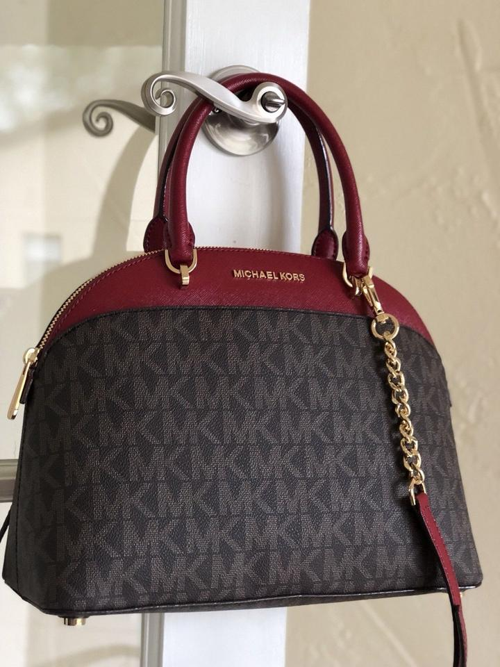 Michael Kors Holiday Monogram Dome Satchel Cross Body Bag 123456789101112