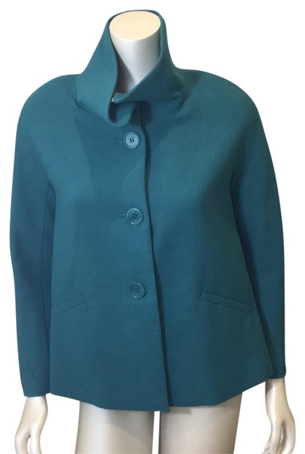 Item - Teal Fit Swing Coat Jacket Size 4 (S)