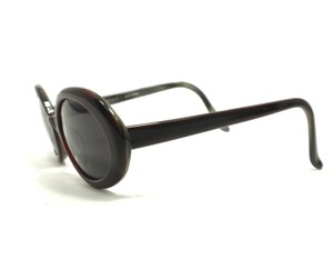 Morgenthal-Frederics Morgenthal Frederics Burgundy Oval Sunglasses