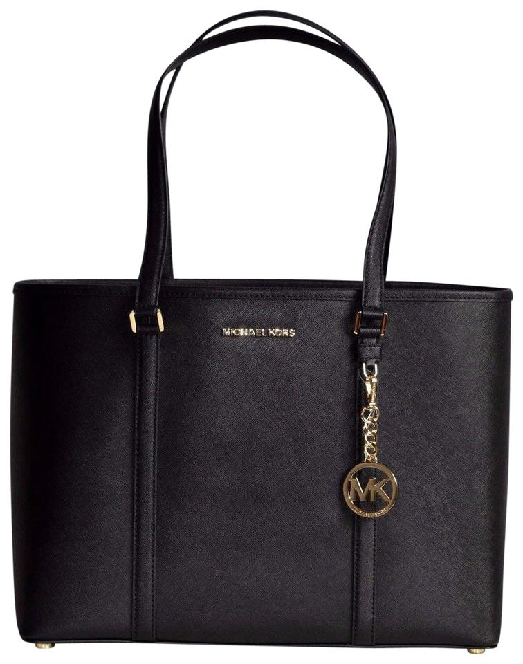 7df48d87ecf0 Michael Kors Large Weekender Carryall Monogram Big Tote in Black Image 0 ...