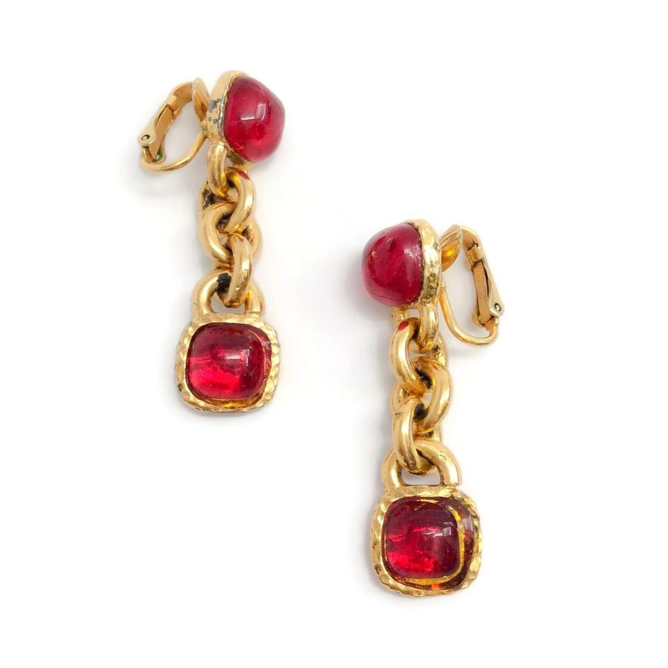 rg red w rhodolite ov r itm ct oval earrings wrc white garnet diamond di gold