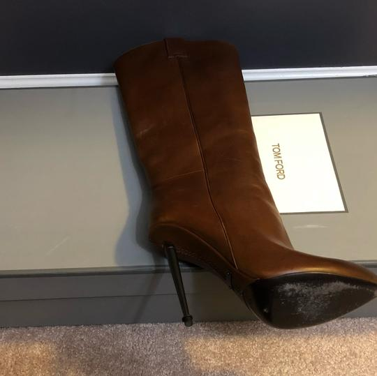 Tom Ford Cognac (Brown) Leather Boots Image 1