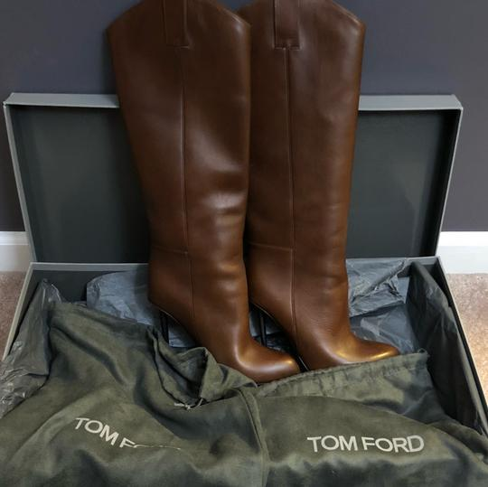 Tom Ford Cognac (Brown) Leather Boots Image 3