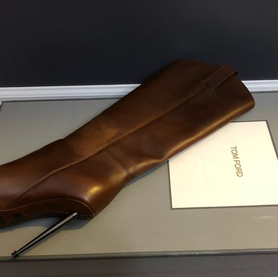 Tom Ford Cognac (Brown) Leather Boots Image 5