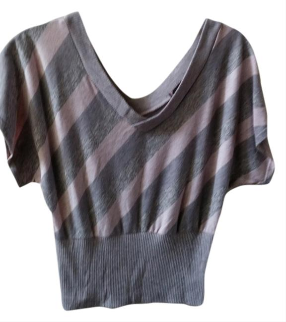Almost Famous Top Pink and grey