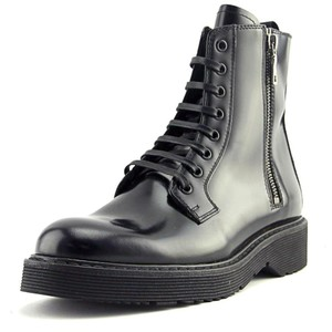 37ec825493f Prada Women Ankle Combat Leather Black Boots. Prada Black Calzature Donna  Women s Leather Combat Ankle Boots Booties Size EU 36.5 (Approx. US 6.5)  Regular ...