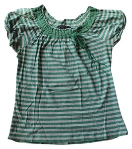 BCBGMAXAZRIA Bcbg Max Azria Striped T Shirt Green/Grey