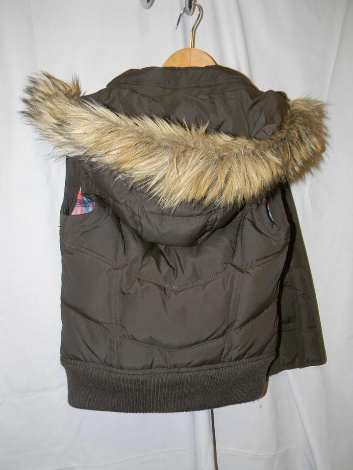 445701a77 Abercrombie & Fitch Brown Polyester Down Feather Quilted Puffer Coat Vest  Size 2 (XS)